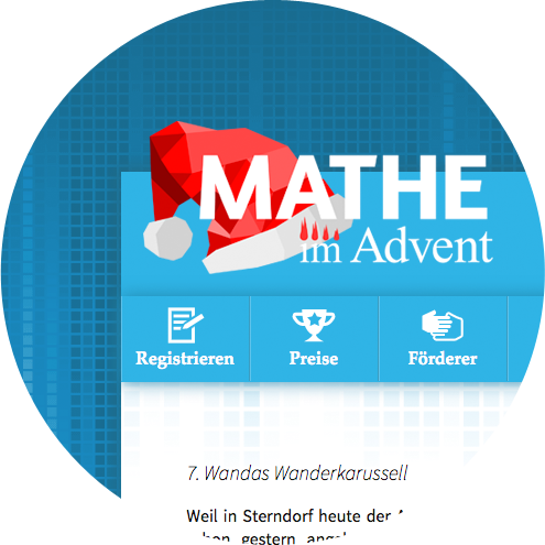 Mathe im Advent Logo, Grafik